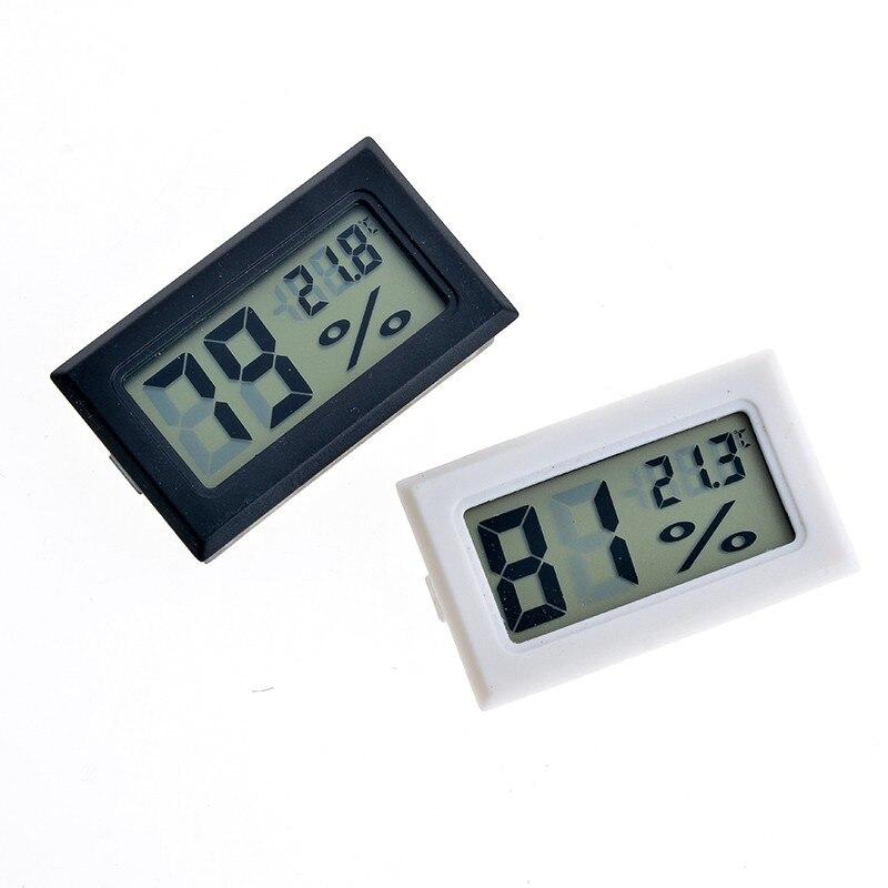 1 Pcs Schwarz/weiß Embedded Digital Temperatur Feuchtigkeit Meter Mini Temperatur Feuchtigkeit Meter Lcd Digital Thermometer Hygrometer