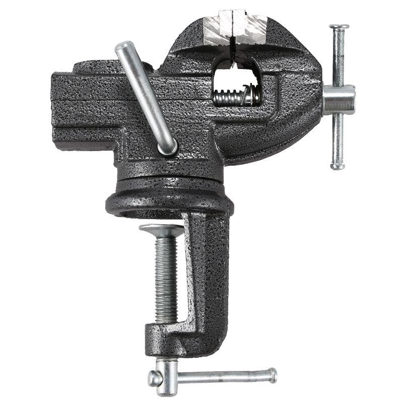 Aletler'ten Mengene'de 1 adet Mini 50mm yüksek karbon çelik ağır mengene masa mengene tezgah yardımcısı evrensel mengene masaüstü mengene iki yönlü 360 derece döner perakende