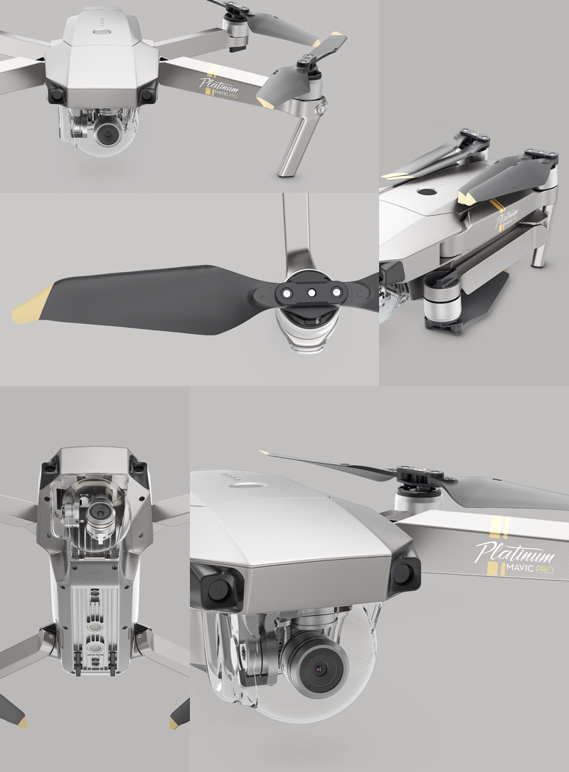 DJI Mavic Pro Platinum In Stock Drone With 4K HD Camera Folding FPV Drone mavic pro carbon 4K GPS Max Fly Time 30mins