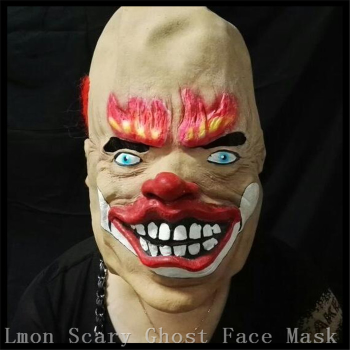 new design red hair buchtooth rubber latex goonies mask for halloween party holiday horror masks scary clown face mask with hair in party masks from home - Creepy Masks For Halloween