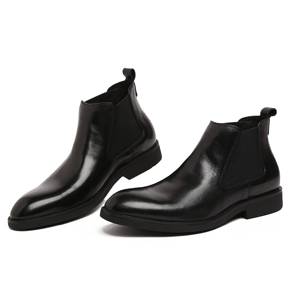 Black dress ankle boots business
