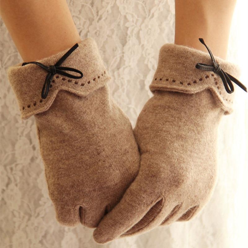 Fashion Elegant Female Wool Touch Screen Glovess