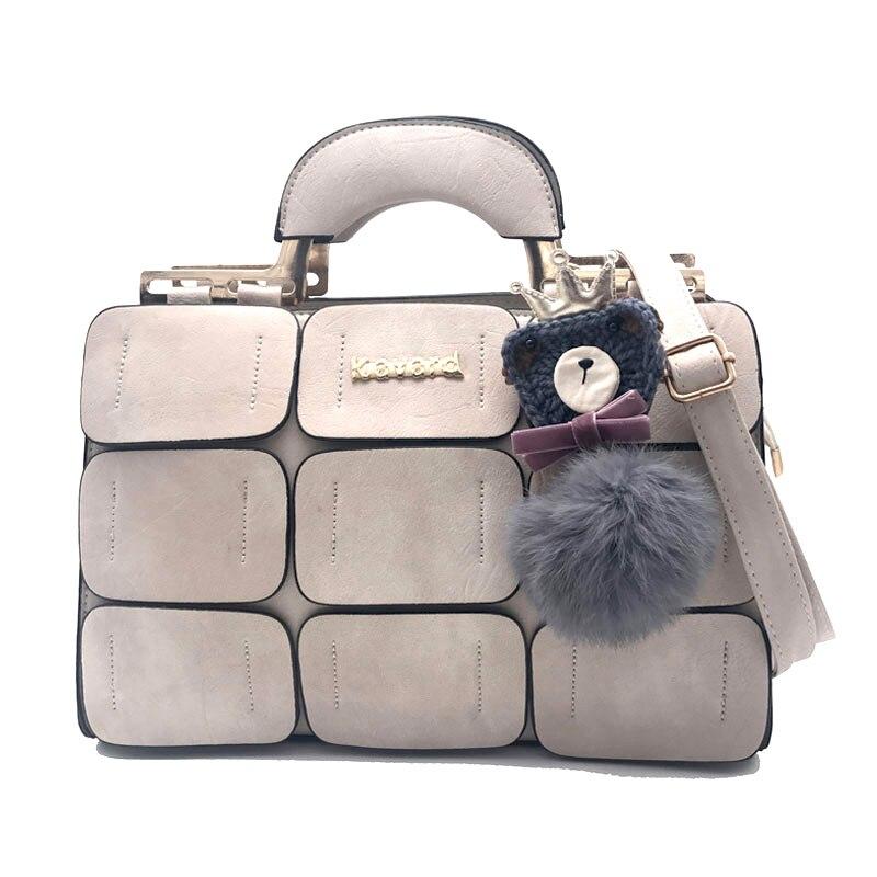 Fashion Plaid Patchwork Boston Handbag Tote Bags For Women Sac a Main Designer High Quality PU Leather Famous Brand Shoulder Bag