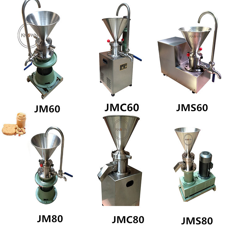 Various models food colloid mill paste processing equipment price peanut butter making machine