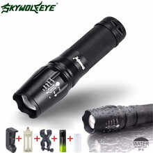 5000 Lumen G700 LED Zoom 18650 Flashlight X800 Military Lumitact Torch Battery Charger L61216