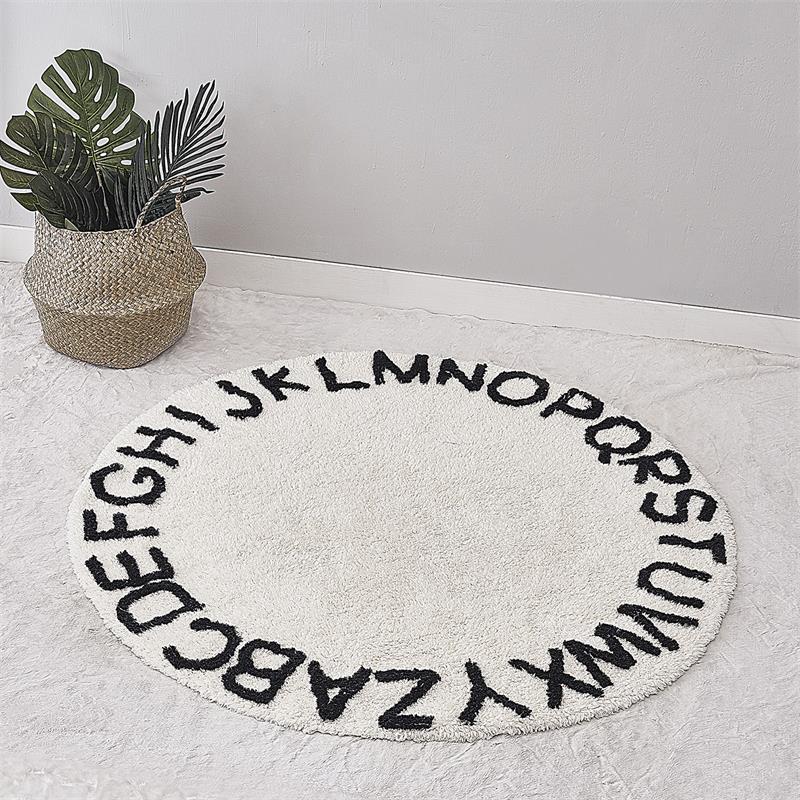 Scandinave coton enfants bébé jouer tapis de sol rond tapis tipi tapis tapis pépinière chambre décor 120cm diamètre