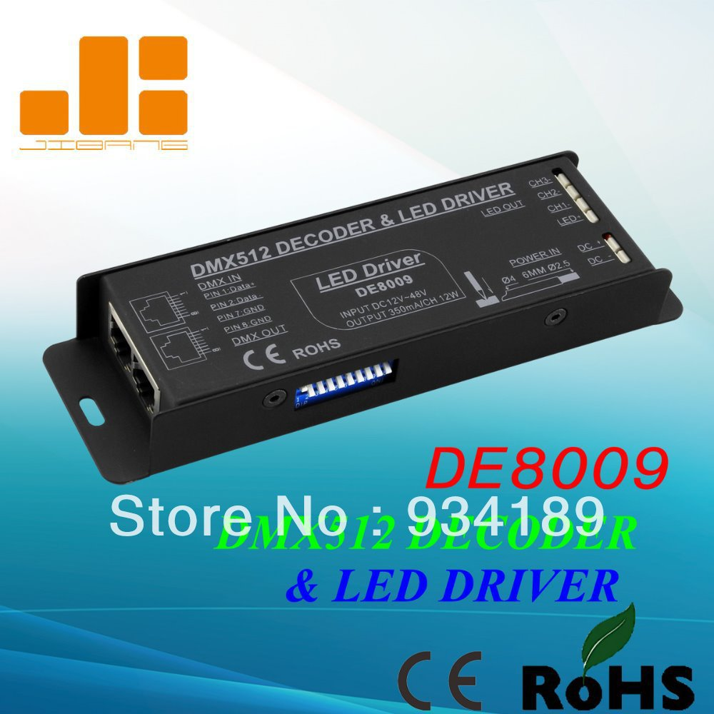 Free Shipping DMX512 Constant Current Decoder & LED Driver 3 Channels RGB LED Controller ...