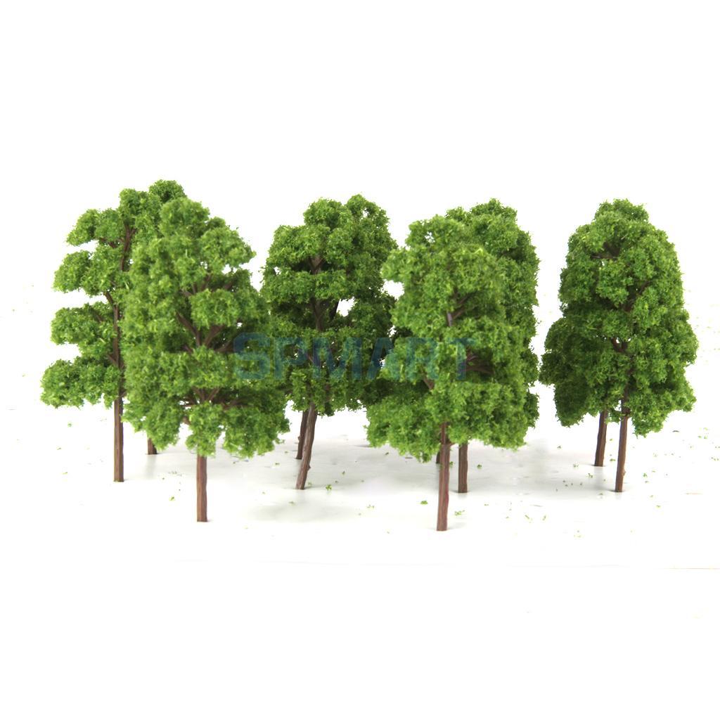 50Pcs Trees Model Train Railway RR Scenery Forest Building Wargame Landscape