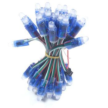 1000 قطعة/8000 قطعة WS2811 Led بكسل وحدة 12 مللي متر IP68 للماء DC 5 V كامل اللون RGB سلسلة مصابيح كريسماس LED بالجملة