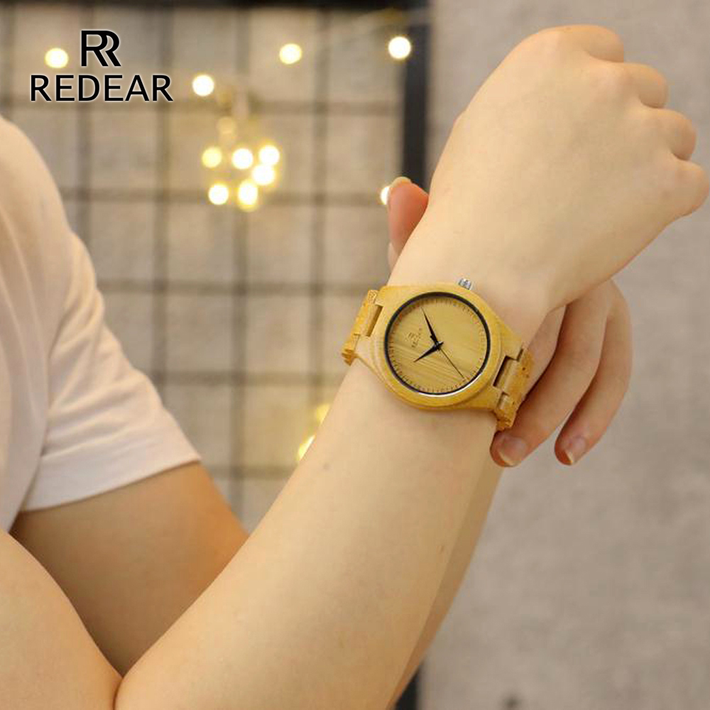 REDEAR Bamboo Lover's Watches Timepieces Wood Band Quartz Polshorloge - Dameshorloges - Foto 6