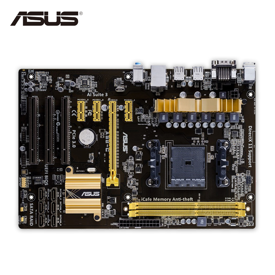 Asus A58-C Desktop Motherboard A58 Socket FM2 DDR3 32G SATA4 USB2.0 ATX Second-hand High Quality