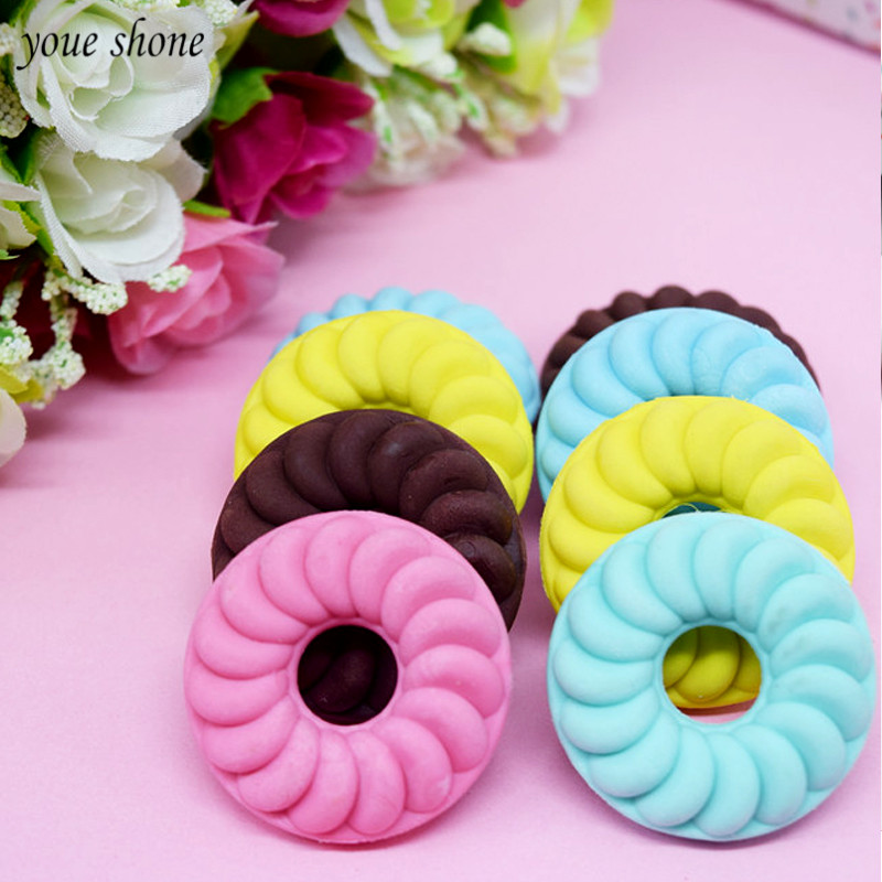 3pcs/lots  rubber colorAdorable simulation sweet doughnut eraser creative molding student gift stationery Kawaii for children