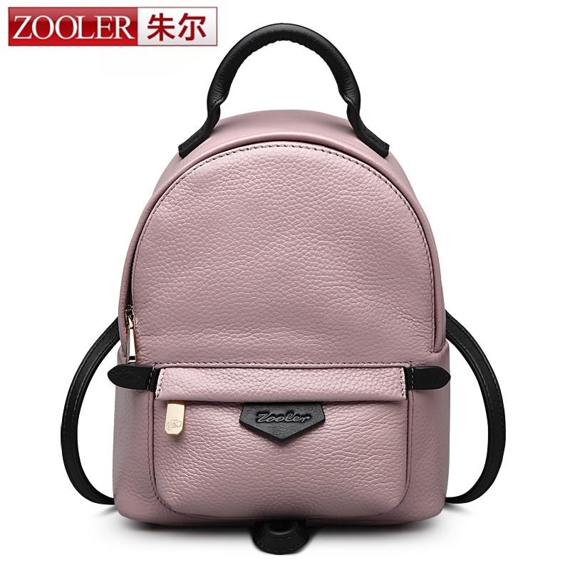 e3750bb6df05 ZOOLER 2016 летний новый натуральная кожа рюкзак розовый стильные женские  кожаные рюкзаки для леди/школа девушки сумка #2900 Описание. >>>>