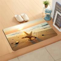 v&17 Custom The beach sea shells Doormat  Home Decor Door mat Floor Mat Bath Mats foot pad L7.11#h17