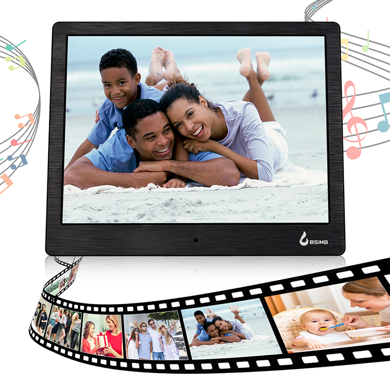 10 Digital Photo Frame IPS Screen 1280*800 4GB Digital Picture Frame Calender Alarm Clock MP3 MP4 Movie Player Digital Frame free shipping dhl 15 hd 15inch tft lcd 1280 800 digital photo frame picture album clock mp3 mp4 movie ad player for menu sign page 2