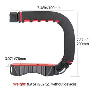 Image 5 - Ulanzi U Grip Pro Triple Shoe Mount Video Stabilizer Handle Video Grip Camera Phone Video Rig Kit for Nikon Canon iPhone X 8 7