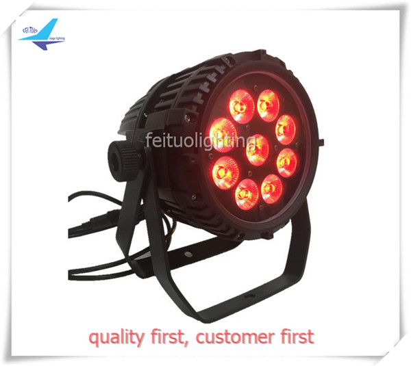 free shipping 4pcs/lot Power 9x18w Stage Outdoor Wireless Par Light LED Wash RGBWA UV 6IN1 Battery DMX Lumiere Uplight Show Club
