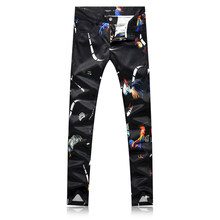 Pantalón negro de los hombres de moda Casual pantalones de flores de los  hombres tamaño 29-38 hombre vestido 2019 pantalones de . 090d8d031579