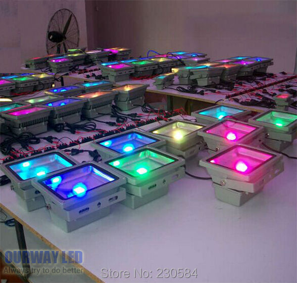 Parking Garage Lighting Controls: Remote Control Colorful 50W RGB Floodlight Design For