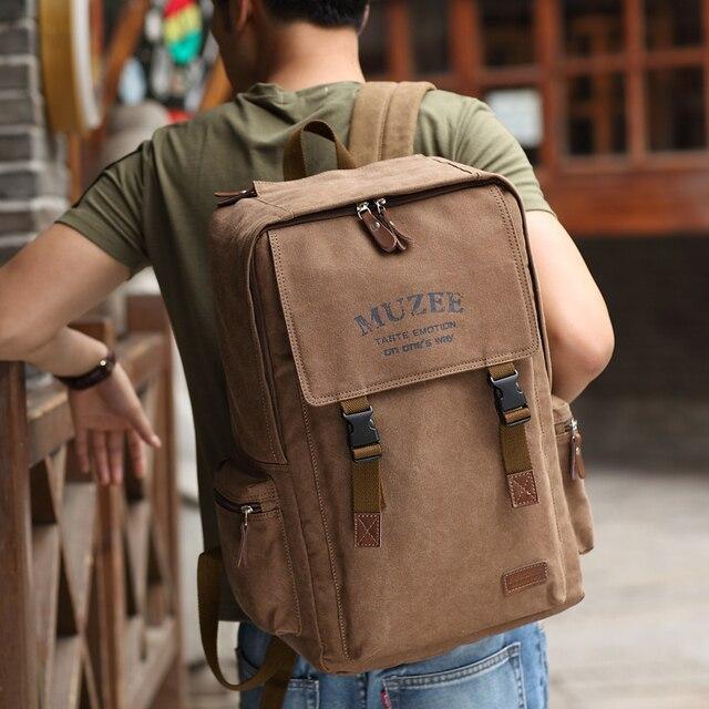 Muzee 2017 nuevas llegadas gran capacidad mochila retro estilo masculino y femenino lienzo mochila para adolescentes bolsa de viaje con el envío regalo