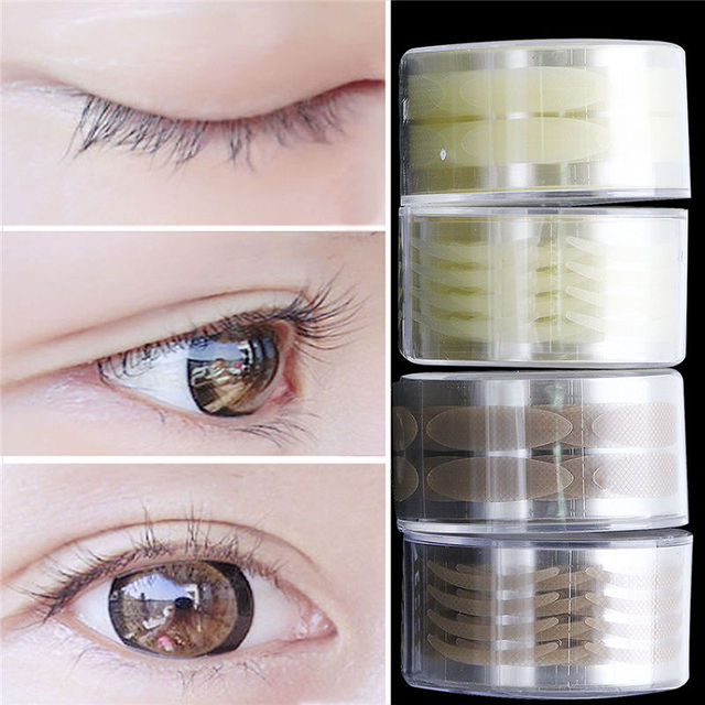 US $1 14 5% OFF|Top Quality 300 Pair Adhesive Invisible Skin Wide/Narrow  Double Eyelid Sticker Net L Tape Make Up-in Eyelid Tools from Beauty &  Health