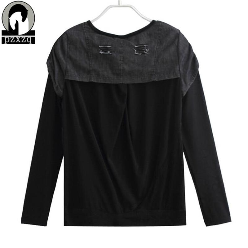 Јесен Т схирт мајица Секи чипка - Женска одећа - Фотографија 6