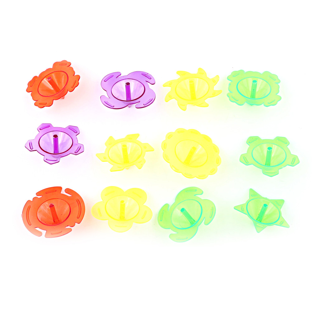 10 Stks/set Plastic Mini Top Spinning Kleuterschool Enkele Fidget Spinner Hand Spiner Gyro Speelgoed Willekeurige
