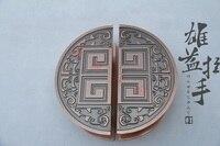 Spot! Chinese antique bronze big word back semicircle wooden door door handle glass door handle modern large