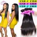 7A Brazillian Virgin Hair Straight 3PCS Soft Brazilian Straight Hair Weave Bundles Brazilian Straight Human Hair Extensions