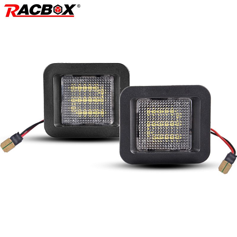 RACBOX Led License Plate Lights For Ford F150 F-150 Raptor 2015 - 2019 Error free Car License Plate Lamps Exterior Accessories