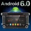 2 Two Din Aux Gps Quad Core Android 6 0 Car Dvd Player TV For VW
