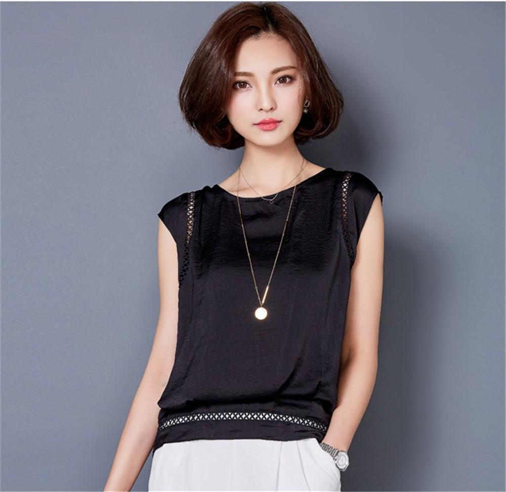 Big Size M-3XL Luxury Chiffon Tank Top For Women Summer Fashion Crop Tops Women\'s Sleeveless Tank Vest Tops Lady Sexy Camis (8)