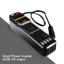 200W Modified Sine Wave Inverter DC 12V to AC 220V with Universal Socket for Car Vehicle Solar Power Inverter Four USB Ports(China)
