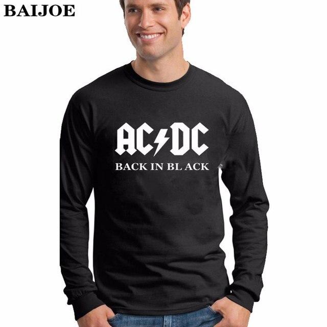 b9fda95aa BAIJOE Plus sizes Camisetas AC/DC band rock T Shirt Mens acdc Graphic T-