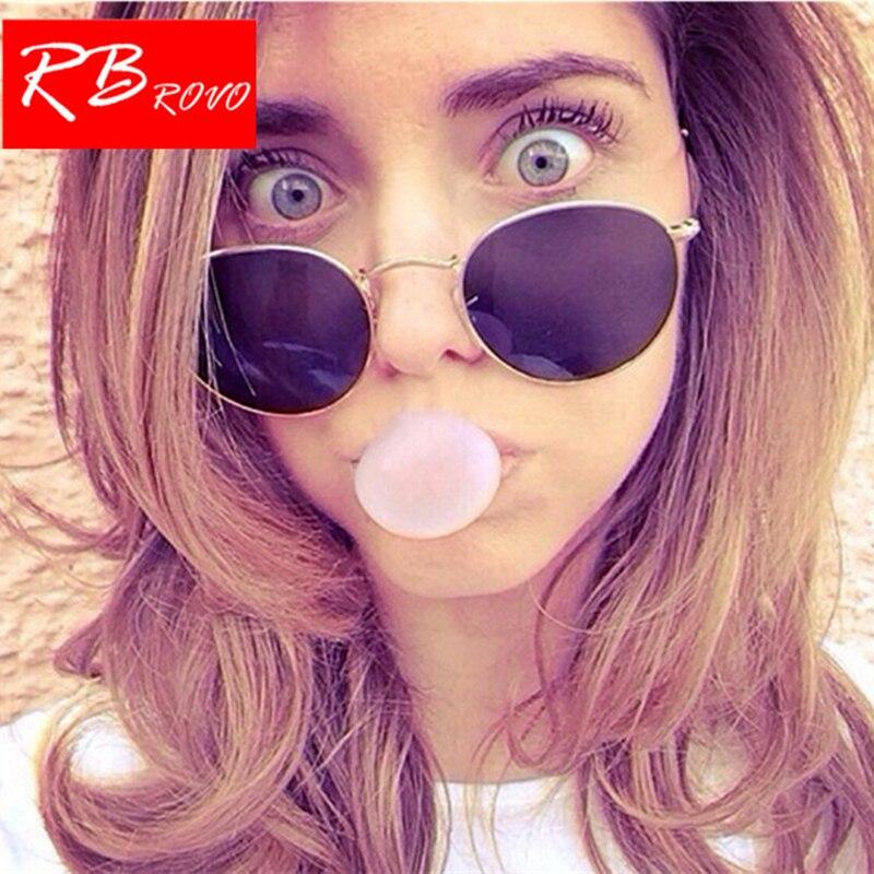 80c4cd51003 RBROVO 2019 Vintage Oval Classic Sunglasses Women/Men Eyeglasses Street  Beat Shopping Mirror Oculos De Sol Gafas UV400