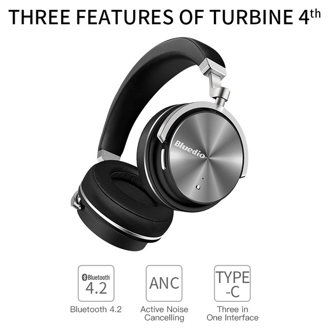 Bluedio t4 active noise cancelling wireless bluetooth headphones with microphone