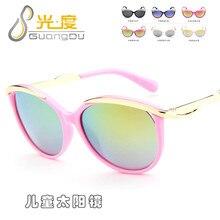 Модные детские солнцезащитные очки для девочек, детские солнцезащитные винтажные очки, ретро oculos infantil