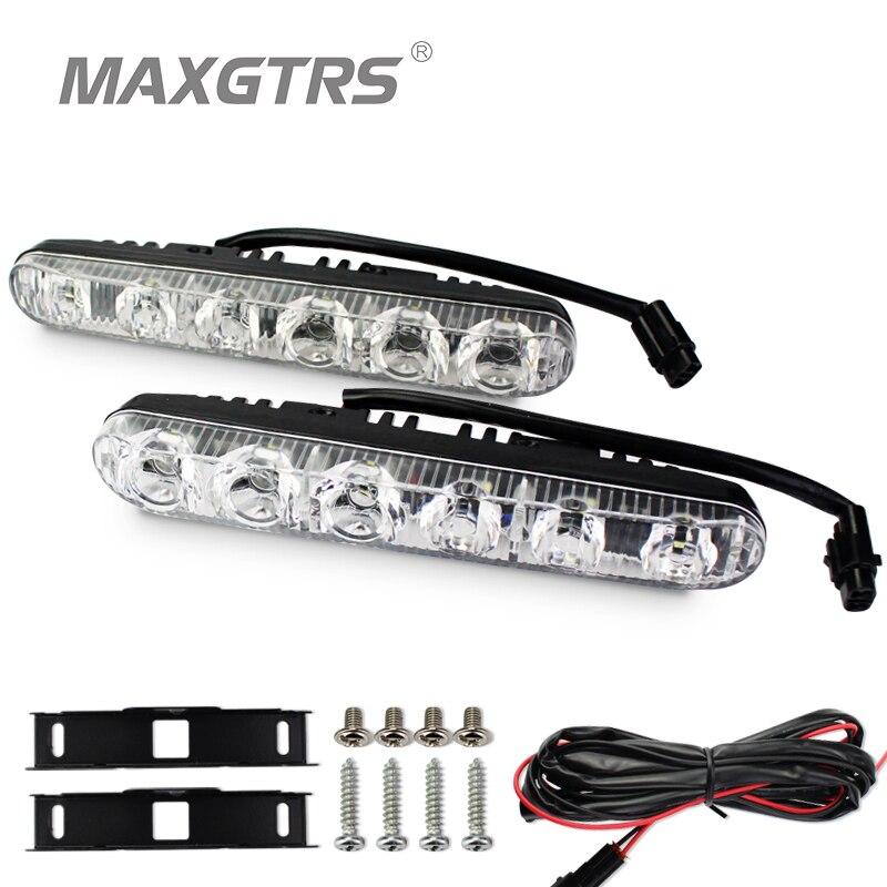 2x High Power Car Headlight DRL High/Low Beam Warning Driving Fog Lamp Auto Head LED Daytime Running Light Len Xenon Turn Signal