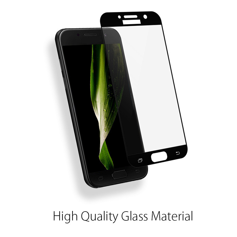 POPSPARK 3D Curved Full Cover Tempered <font><b>Glass</b></font> For <font><b>Samsung</b></font> Galaxy A320 <font><b>A520</b></font> A720 A3 A5 A7 2017 Screen Protector Protective Film image