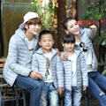 The Spring and Autumn Feather Padded Boys Paternity Thin Full Winter Coat Jacket