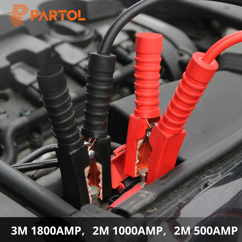 цена Partol 2M 500AMP 1000AMP 3M 1800AMP Car Battery Jump Cable Booster Cable Emergency Terminals Jump Starter Leads Cable Van SUV