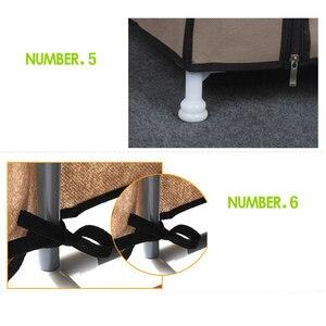 Image 5 - קסם איחוד פשוט נעל מתלה בית הרכבה רב שכבתי מעונות אחסון נעליים מתלה Dustproof נעלי מדף בד נעלי ארון