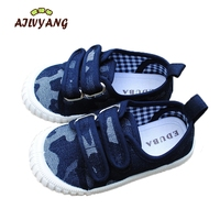 Children Spring Autumn Canvas Shoes Baby Boys Camouflage Casual Shoes Kids Breathable Hooks Sneakers Girls Flats
