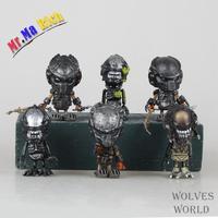 Movie Figure 8 Cm 6pcs/set Q Version Alien Queen Xenomorph Warrior Pvc Action Figure Collectible Model Toy