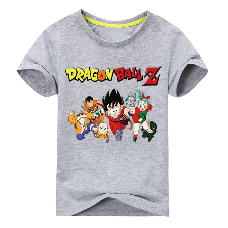 Boy Girl 3D Cartoon Dragon Ball Z Style T-shirt Children Short Sleeve Goku Print Tee Tops Clothing For Kids Tshirt Clothes DX018 женская футболка 3d 2015 t tshirt blusas femininas t 3d print