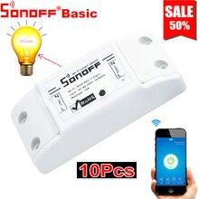 10PCS Sonoff Basic Smart Home Wifi Schakelaar Draadloze Afstandsbediening Licht Tijdschakelaar DIY Modules 10A/2200W via Ewelink