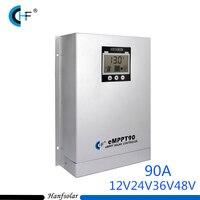 90A 12 v 24 v 36 v 48 v MPPT Solar Şarj Regülatörü otomatik Çalışma Yüksek Verimlilik PWM Şarj Regülatörü kullanılan solar PV Sistemi