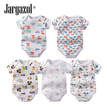 Jargazol Discount Package Baby Pcs Set Cotton Printing Short Sleeves Rompers Unisex Pullover M