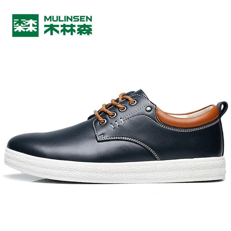 Prix pour Mulinsen hommes planche à roulettes de sport chaussures bleu/brun/noir porter non-slip en plein air sport chaussures traning sneakers 260102