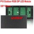 DIP LEVOU Módulo P10 RGB Ao Ar Livre 320*160mm 32*16 pixels Full color display LED mensagem de rolagem P10 DIP display LED